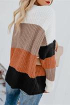 Oransje Casual Colorblock genser