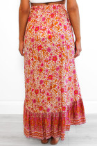 Red Floral Motif Talking Pretty Maxi kjol