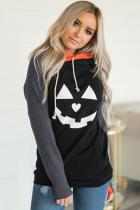 Double Hood Halloween Pumpkin Sweatshirt
