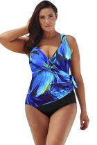Pituusaste Sininen Darling Plus -kokoinen Surplice-uimapuku