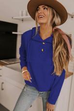 Blå alpine træktrøje