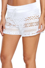 Blå Lace Shorts Attached Swim Bottom