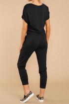 Sort V Neck Wrap Front jumpsuits