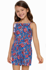 Blue Girls' Sleeveless Romper