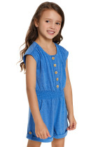 Sky Blue Little Girls Cassie Romper