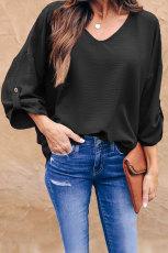 Svart på Melrose-bluse