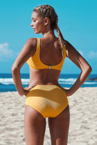 Set de bikini croiți cu nod galben