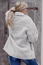 Куртка-заявка из шерпа серого цвета с карманами