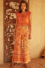 Оранжевые палаццо штаны