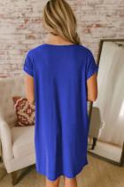 فستان بنمط تيشيرت بياقة V