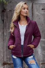 Fuchsia Mammoth Pocketed Jacket Puffer