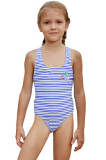 Blue Nautical Stripes batole dívky Maillot plavky