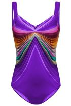 لباس شنا Purple 3D Pattern Maillot Sport