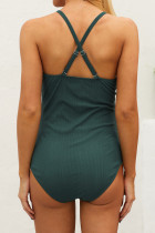 Snap Front-Ribbed Snack Front One-piece Maternity Swimsuit