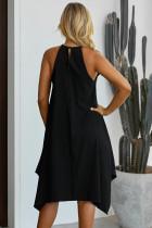 Svart ring Alarmen Luxe Midi kjole