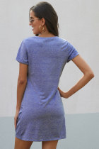 Sky Blue The Triblend Side Hôn Dress