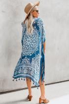 Blue Anja Tassel Kimono