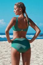 Set de bikini croiți cu nodul verde