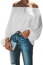 Valkoinen elastinen kaula-aukkoinen olkapää