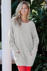 Серый зимний свитер