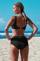 Set de bikini croiți cu nodul negru