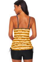 Tankini-badmode met gele print