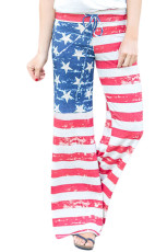 Americké vlajky Terry Wide Leg Kalhoty