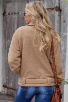 Khaki Niagara Falls Sherpa-jakke med lomme