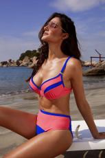 Punainen Colorblock Push up Bikini