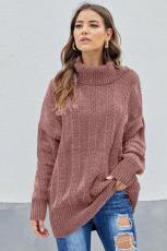 Розовый мягкий свитер синели