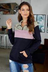 Ροζ στο πουλόβερ φερμουάρ