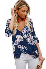 Μπλε λουλούδι με μπλε λαιμό με μπλούζα