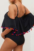 Слитный купальник для беременных с открытыми плечами