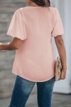 Bluză cu mânecă roz Puff