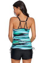 نوارهای سبز Strappy Tankini Swimsuit Top