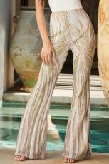 Aprikos Sunburst Sequin Kick Flare Bukser