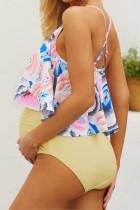 Слитный купальник для беременных с цветочным принтом