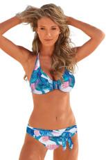 Taivaansininen kukka-painettu koristekassi 2 Piece Bikini Set
