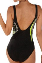 Yellow Tribal Print One Piece Swimsuit