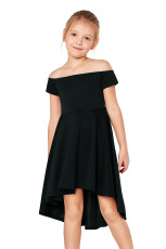 Musta Kaikki Rage Skater Dress for Little Girls