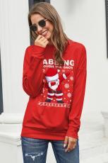 Red Ugly Christmas Cartoon Sweatshirt çap bikin