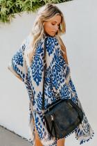 Kecerdasan Biru Pom Pom Kimono