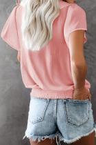 Pink Powerpuff Drape Ruffle Blouse