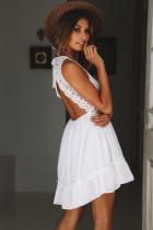 Платье белого существа комфорта