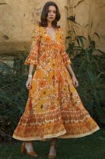 Laranja Lady Love Maxi Dress