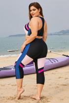 Rengîn Rêzika Blind Patchwork Plus Size Surfing Rash Guard