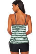 ملابس سباحة تانكيني بطبعة زيتون أخضر