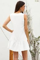 Bílé kapesní knoflíky dolů Tank šaty