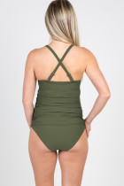 Зеленый бикини пляжный бюстгальтер для беременных пуш-ап