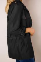 جاكيت أسود Bottoned